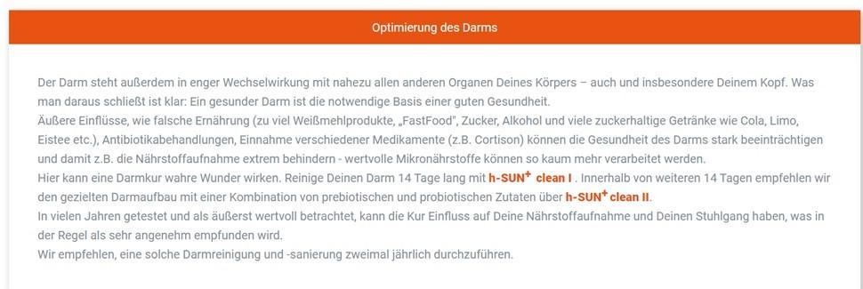 h-one sun darm
